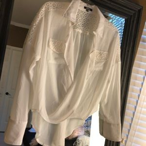 EUC XOXO White Sheer Blouse